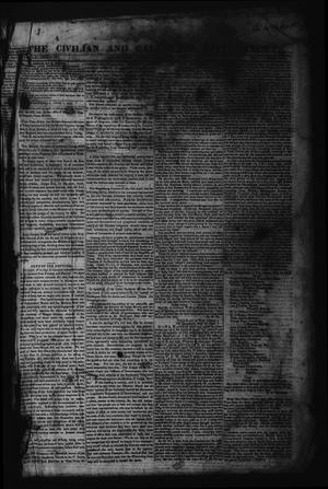 Primary view of object titled 'The Civilian and Galveston City Gazette. (Galveston, Tex.), Ed. 1 Saturday, June 10, 1843'.