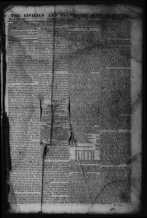 Primary view of object titled 'The Civilian and Galveston City Gazette. (Galveston, Tex.), Ed. 1 Saturday, July 1, 1843'.