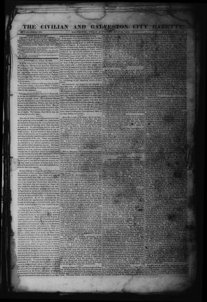 Primary view of object titled 'The Civilian and Galveston City Gazette. (Galveston, Tex.), Ed. 1 Saturday, July 29, 1843'.