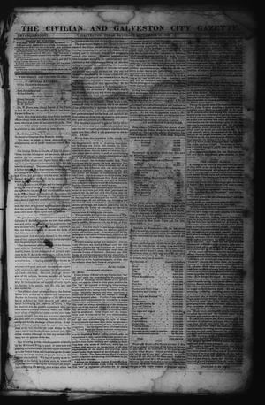 Primary view of object titled 'The Civilian and Galveston City Gazette. (Galveston, Tex.), Ed. 1 Saturday, September 16, 1843'.