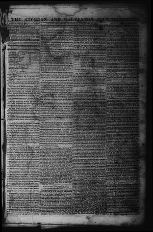 The Civilian and Galveston City Gazette. (Galveston, Tex.), Ed. 1 Saturday, September 23, 1843