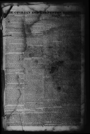 Primary view of object titled 'The Civilian and Galveston Gazette. (Galveston, Tex.), Vol. 6, Ed. 1 Saturday, October 28, 1843'.