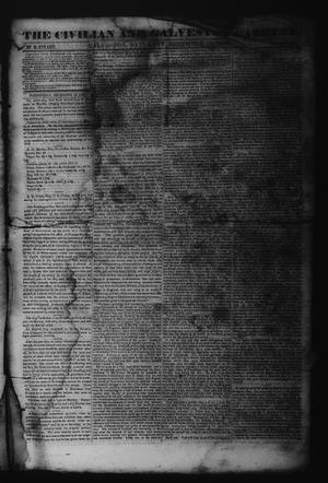 Primary view of object titled 'The Civilian and Galveston Gazette. (Galveston, Tex.), Vol. 6, Ed. 1 Saturday, December 16, 1843'.