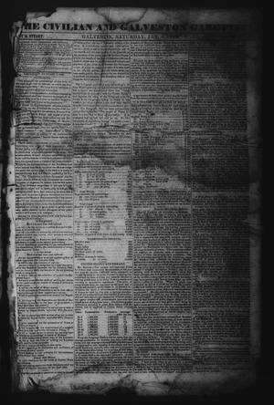 Primary view of object titled 'The Civilian and Galveston Gazette. (Galveston, Tex.), Vol. 6, Ed. 1 Saturday, January 6, 1844'.