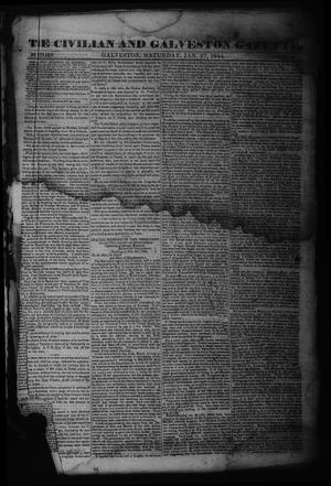 Primary view of object titled 'The Civilian and Galveston Gazette. (Galveston, Tex.), Vol. 6, Ed. 1 Saturday, January 27, 1844'.