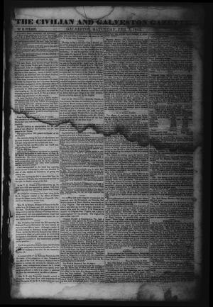 Primary view of object titled 'The Civilian and Galveston Gazette. (Galveston, Tex.), Vol. 6, Ed. 1 Saturday, February 3, 1844'.