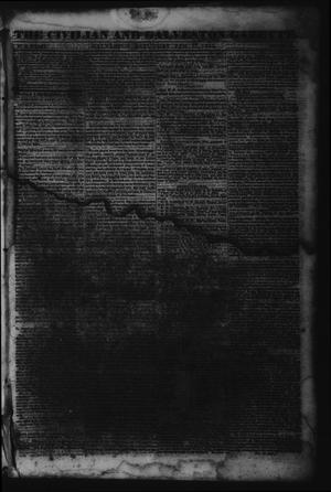 Primary view of object titled 'The Civilian and Galveston Gazette. (Galveston, Tex.), Vol. 6, Ed. 1 Saturday, February 17, 1844'.