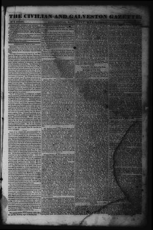 Primary view of object titled 'The Civilian and Galveston Gazette. (Galveston, Tex.), Vol. 6, Ed. 1 Saturday, May 4, 1844'.