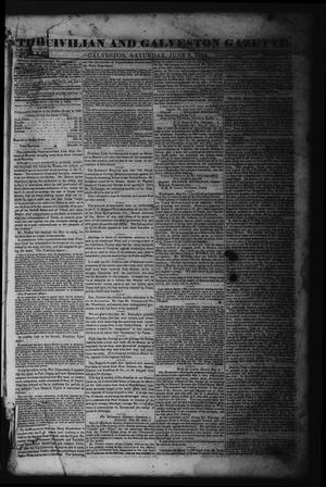 The Civilian and Galveston Gazette. (Galveston, Tex.), Vol. 6, Ed. 1 Saturday, June 8, 1844