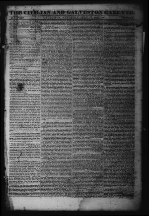 Primary view of object titled 'The Civilian and Galveston Gazette. (Galveston, Tex.), Vol. 6, Ed. 1 Saturday, July 27, 1844'.