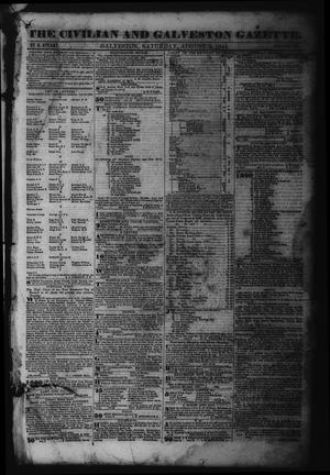 Primary view of object titled 'The Civilian and Galveston Gazette. (Galveston, Tex.), Vol. 6, Ed. 1 Saturday, August 3, 1844'.