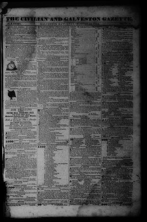 Primary view of object titled 'The Civilian and Galveston Gazette. (Galveston, Tex.), Vol. 6, Ed. 1 Saturday, August 24, 1844'.