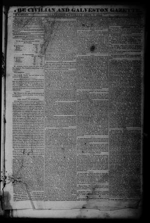 Primary view of object titled 'The Civilian and Galveston Gazette. (Galveston, Tex.), Vol. 6, Ed. 1 Saturday, September 7, 1844'.