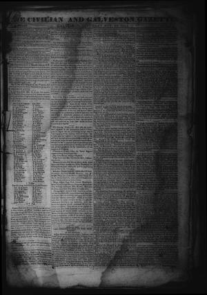 Primary view of object titled 'The Civilian and Galveston Gazette. (Galveston, Tex.), Vol. 4, Ed. 1 Saturday, November 16, 1844'.
