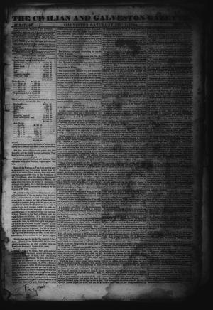 Primary view of object titled 'The Civilian and Galveston Gazette. (Galveston, Tex.), Vol. 6, Ed. 1 Saturday, December 7, 1844'.