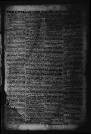 Primary view of object titled 'The Civilian and Galveston Gazette. (Galveston, Tex.), Vol. 4, Ed. 1 Saturday, December 28, 1844'.