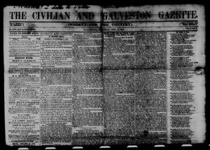 Primary view of object titled 'The Civilian and Galveston Gazette. (Galveston, Tex.), Vol. 10, Ed. 1 Saturday, November 6, 1847'.