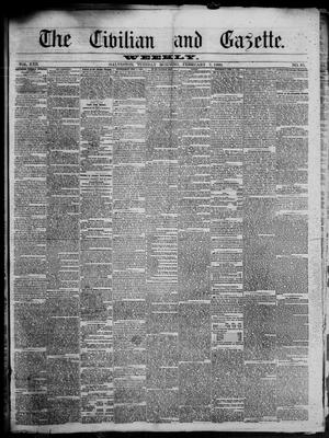 Primary view of object titled 'The Civilian and Gazette. Weekly. (Galveston, Tex.), Vol. 22, No. 45, Ed. 1 Tuesday, February 7, 1860'.