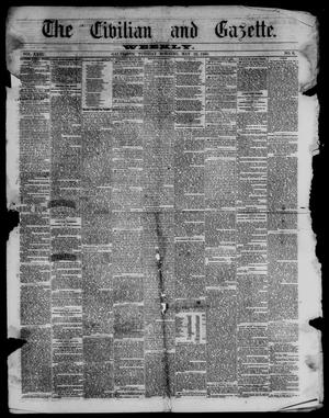 Primary view of object titled 'The Civilian and Gazette. Weekly. (Galveston, Tex.), Vol. 23, No. 8, Ed. 1 Tuesday, May 22, 1860'.