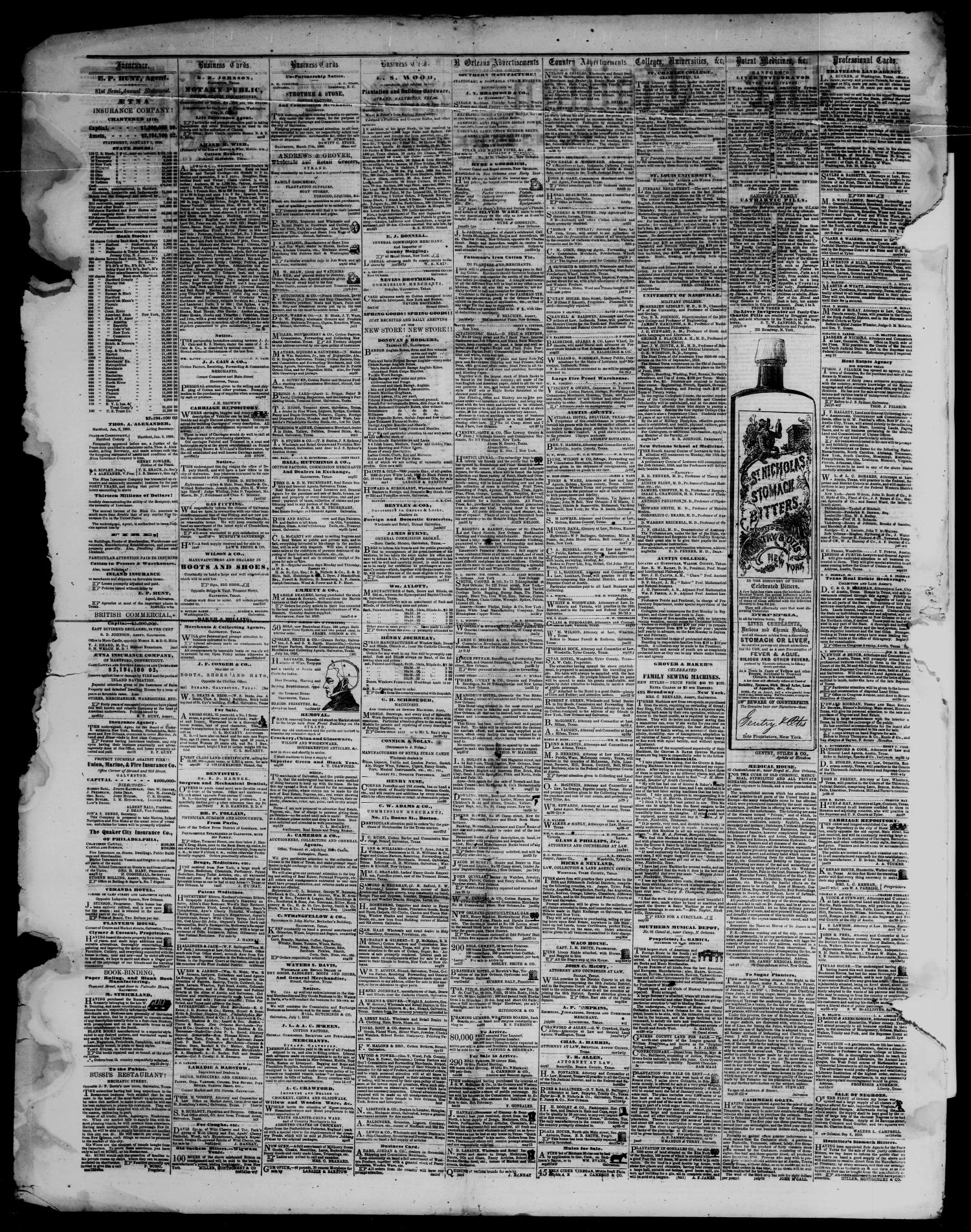 The Civilian and Gazette. Weekly. (Galveston, Tex.), Vol. 23, No. 8, Ed. 1 Tuesday, May 22, 1860                                                                                                      [Sequence #]: 4 of 4