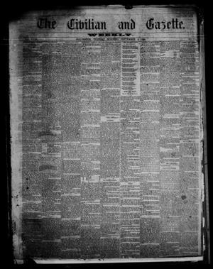 Primary view of object titled 'The Civilian and Gazette. Weekly. (Galveston, Tex.), Vol. 23, No. 22, Ed. 1 Tuesday, September 4, 1860'.