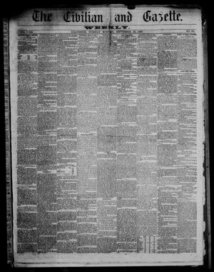 Primary view of object titled 'The Civilian and Gazette. Weekly. (Galveston, Tex.), Vol. 23, No. 25, Ed. 1 Tuesday, September 25, 1860'.