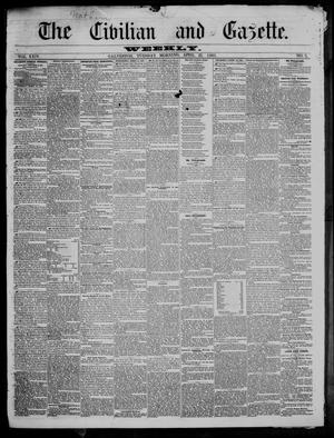 Primary view of object titled 'The Civilian and Gazette. Weekly. (Galveston, Tex.), Vol. 24, No. 3, Ed. 1 Tuesday, April 23, 1861'.