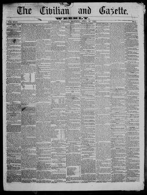 Primary view of object titled 'The Civilian and Gazette. Weekly. (Galveston, Tex.), Vol. 24, No. 4, Ed. 1 Tuesday, April 30, 1861'.