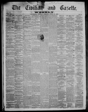 Primary view of object titled 'The Civilian and Gazette. Weekly. (Galveston, Tex.), Vol. 24, No. 12, Ed. 1 Tuesday, June 25, 1861'.