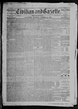 Primary view of object titled 'Civilian and Gazette. Weekly. (Galveston, Tex.), Ed. 1 Thursday, October 19, 1865'.