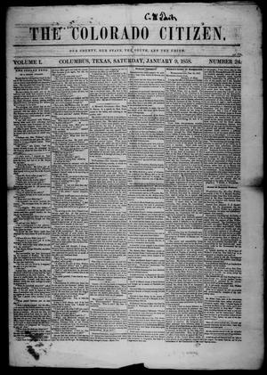 The Colorado Citizen (Columbus, Tex.), Vol. 1, No. 24, Ed. 1 Saturday, January 9, 1858