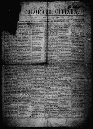 The Colorado Citizen (Columbus, Tex.), Vol. 3, No. 2, Ed. 1 Saturday, September 10, 1859