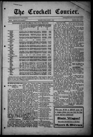 Primary view of object titled 'The Crockett Courier (Crockett, Tex.), Vol. 23, No. 27, Ed. 1 Thursday, August 1, 1912'.