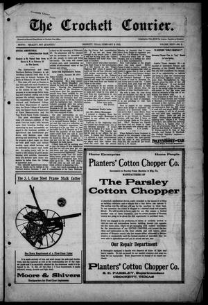 Primary view of object titled 'The Crockett Courier (Crockett, Tex.), Vol. 24, No. 2, Ed. 1 Thursday, February 6, 1913'.