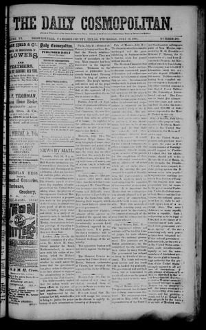 Primary view of object titled 'The Daily Cosmopolitan (Brownsville, Tex.), Vol. 6, No. 281, Ed. 1 Thursday, July 16, 1885'.