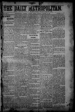 Primary view of object titled 'The Daily Metropolitan (Brownsville, Tex.), Vol. 1, No. 8, Ed. 1 Tuesday, August 29, 1893'.