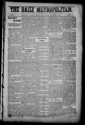 Primary view of object titled 'The Daily Metropolitan (Brownsville, Tex.), Vol. 1, No. 13, Ed. 1 Sunday, September 3, 1893'.