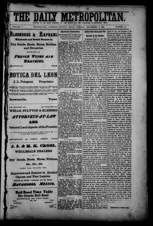 The Daily Metropolitan (Brownsville, Tex.), Vol. 1, No. 14, Ed. 1 Tuesday, September 5, 1893