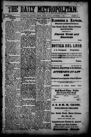 The Daily Metropolitan (Brownsville, Tex.), Vol. 1, No. 19, Ed. 1 Sunday, September 10, 1893