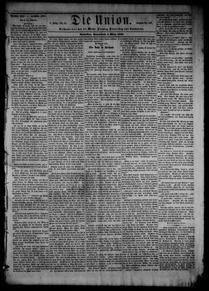 Primary view of object titled 'Die Union (Galveston, Tex.), Vol. 8, No. 55, Ed. 1 Saturday, March 3, 1866'.