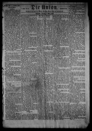Primary view of object titled 'Die Union (Galveston, Tex.), Vol. 8, No. 56, Ed. 1 Tuesday, March 6, 1866'.