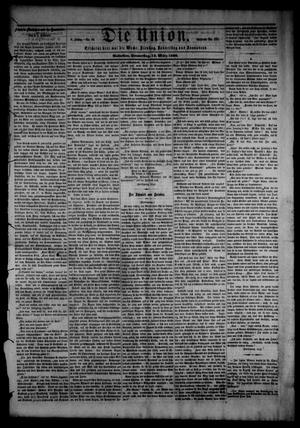 Primary view of object titled 'Die Union (Galveston, Tex.), Vol. 8, No. 60, Ed. 1 Thursday, March 15, 1866'.