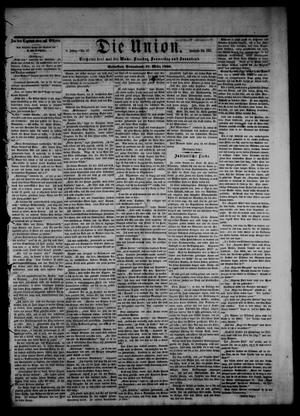 Primary view of object titled 'Die Union (Galveston, Tex.), Vol. 8, No. 67, Ed. 1 Saturday, March 31, 1866'.