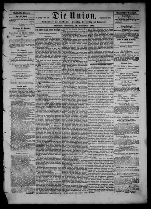 Primary view of object titled 'Die Union (Galveston, Tex.), Vol. 8, No. 136, Ed. 1 Saturday, September 8, 1866'.