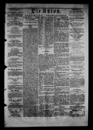 Primary view of Die Union (Galveston, Tex.), Vol. 9, No. 33, Ed. 1 Thursday, January 10, 1867