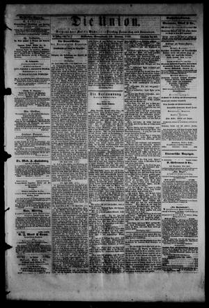 Die Union (Galveston, Tex.), Vol. 9, No. 34, Ed. 1 Saturday, January 12, 1867