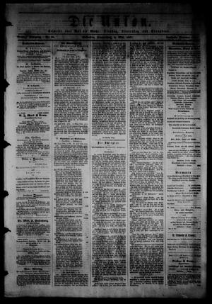 Primary view of object titled 'Die Union (Galveston, Tex.), Vol. 9, No. 81, Ed. 1 Thursday, May 2, 1867'.