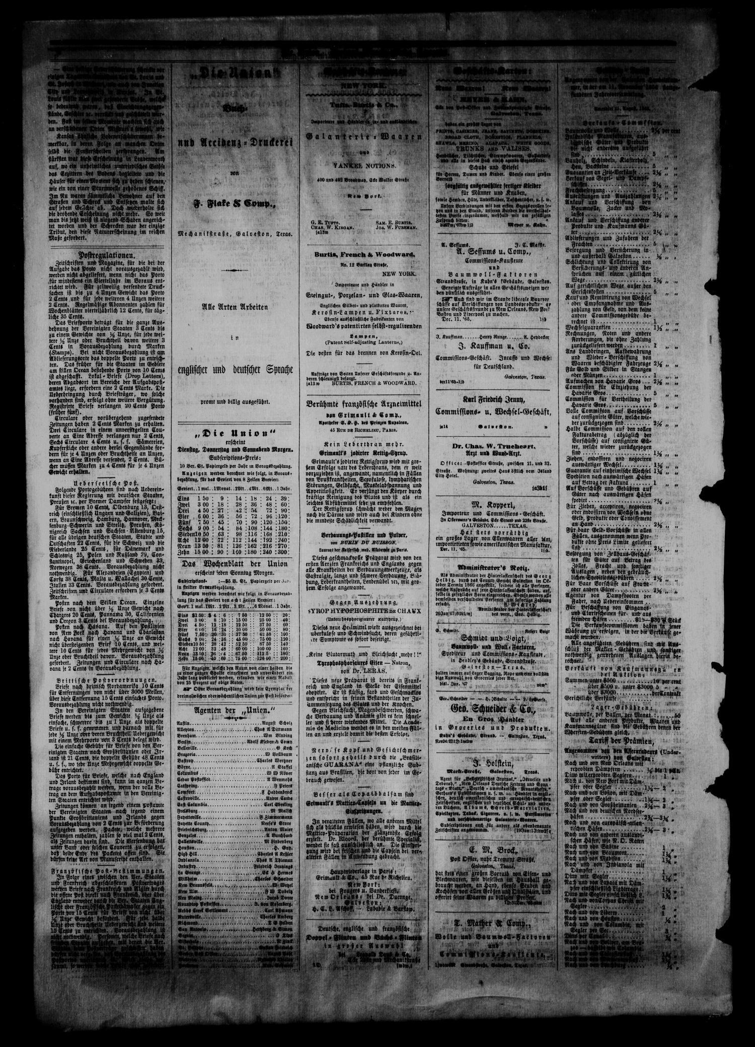 Die Union Galveston Tex Vol 9 No 83 Ed 1 Tuesday May 7