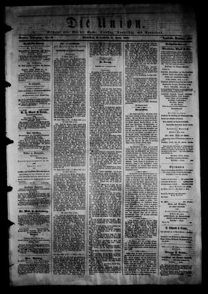 Primary view of object titled 'Die Union (Galveston, Tex.), Vol. 9, No. 97, Ed. 1 Saturday, June 8, 1867'.