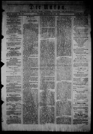 Primary view of object titled 'Die Union (Galveston, Tex.), Vol. 9, No. 109, Ed. 1 Saturday, July 6, 1867'.